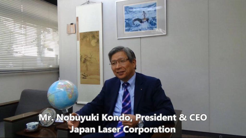 Руководитель JAPAN LASER CORPORATION господин НОБУЮКИ КОНДО